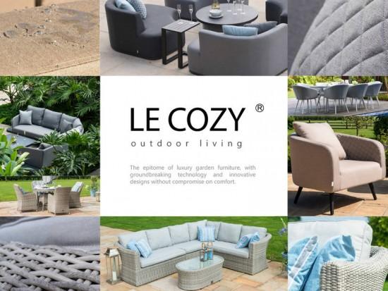 LeCozy Wicker Range Oxford 3 Seater Sofa Set