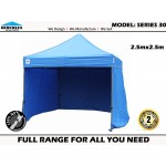Gazebo Hercules II Series 30 2.5x2.5m wall package