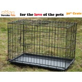 "30"" Collapsible Metal Pet Dog Puppy Cage 77cm-M"