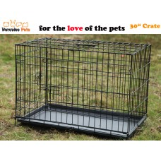 """30"""" Collapsible Metal Pet Dog Puppy Cage 77cm-M"""