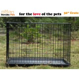 "36"" Collapsible Metal Pet Dog Puppy Cage 91cm-L"