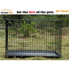 """36"""" Collapsible Metal Pet Dog Puppy Cage 91cm-L"""