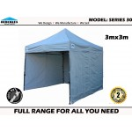 GAZEBO Hercules II™ HD Series 30 3x3m + 3 walls