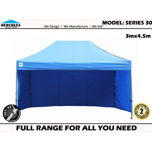 GAZEBO POP UP Hercules II™ Series 30 3x4.5m+walls