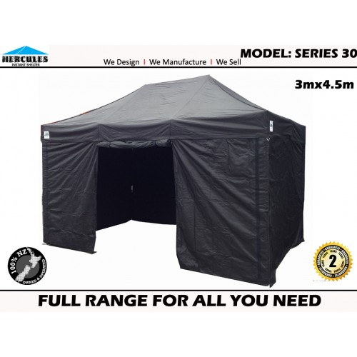 GAZEBO POP UP Hercules II™ 3x4.5m + 4 walls