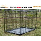 "42"" Collapsible Metal Pet Dog Puppy Cage 107cm-XL"