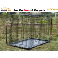 """42"""" Collapsible Metal Pet Dog Puppy Cage 107cm-XL"""