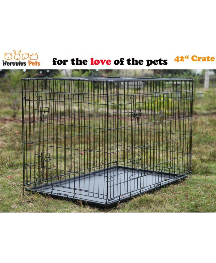 "42"" Collapsible Metal Crate"