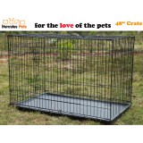 "48"" Collapsible Metal Dog Puppy Cage 121cm-XXL"