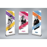 Extreme Roll Up / Pull Up Banner (Signature Series) - VINYL