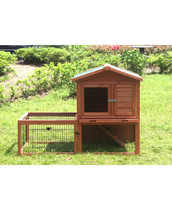 Rabbit Hutch with Run (Pet 021)