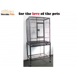 Pet Parrot Aviary Bird Cage with Wheels Stand