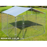 Dog Kennel Run with cover - 2.3M X 2.3M X 1.2M