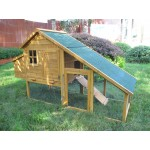 Rabbit Chicken Coop, Hen, Poultry House, Ark&Run