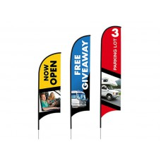 Full Color Custom Printed Feather 2.4m Flag