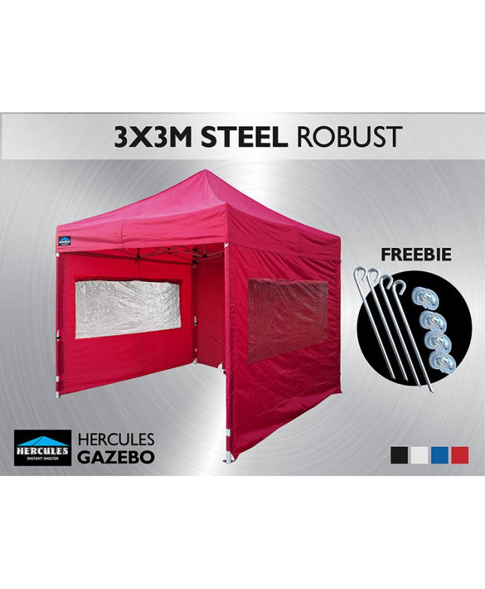 Gazebo HEX 45S 3X3M + Window wall package