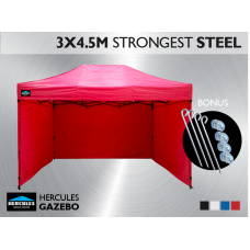 Gazebo HEX 45S 3X4.5m + 3 wall package