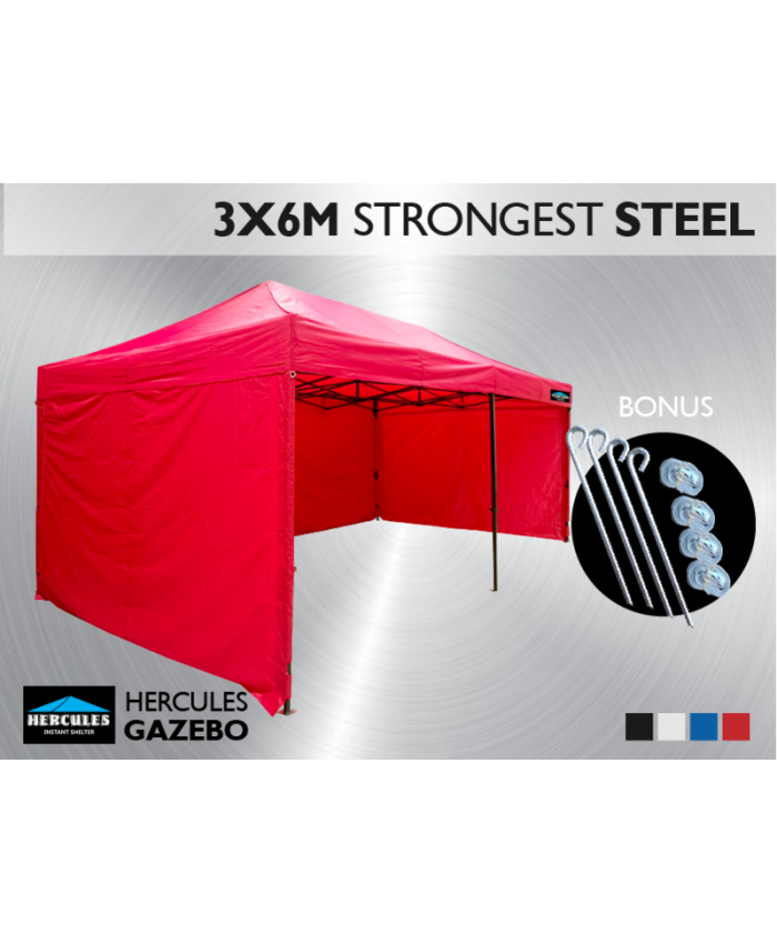 Gazebo HEX 45S 3X6m + 3 wall package
