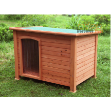 Wooden Dog Kennel with PVC Clear Curtain