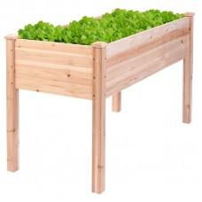 Raised Wooden Planter